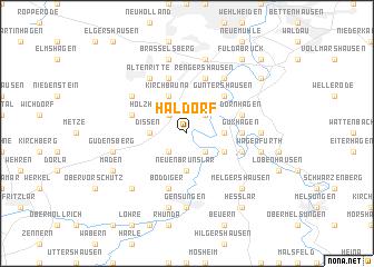 map of Haldorf