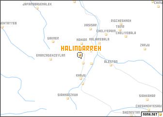 map of Ḩalīn Darreh