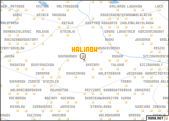 map of Halinów