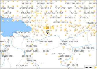map of Hälin