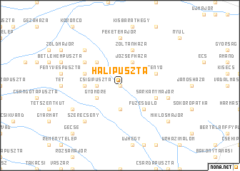 map of Halipuszta
