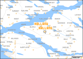 map of Hålland