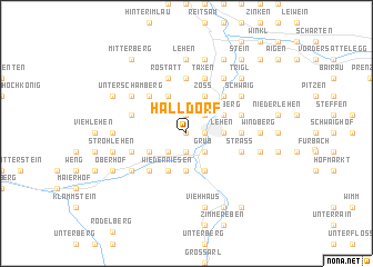 map of Halldorf