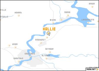 map of Hallie