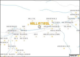 map of Hall in Tirol