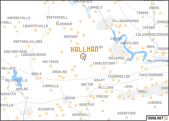 map of Hallman