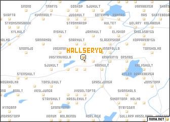map of Hallseryd