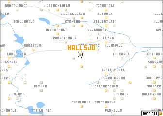 map of Hallsjö