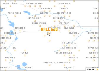 map of Hallsjö
