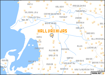 map of Hallvaxhijas