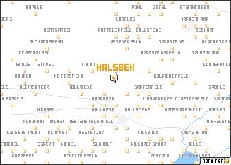map of Halsbek