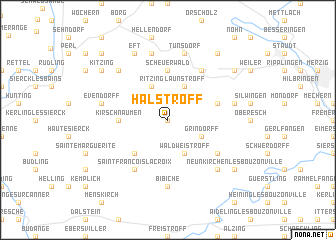 map of Halstroff