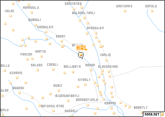 map of Hal