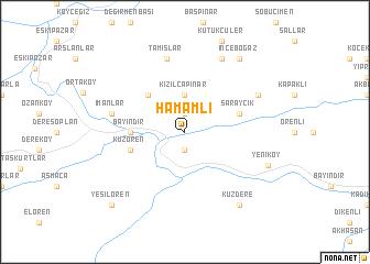 map of Hamamlı