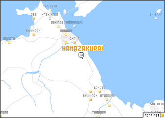 map of Hama-zakurai