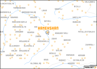 map of Hameh Shān