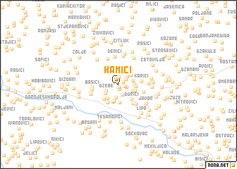 map of Hamići