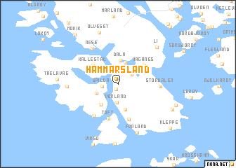 map of Hammarsland