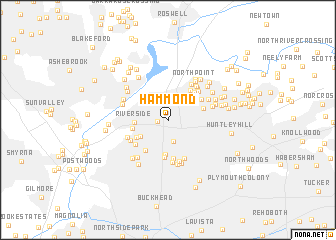 map of Hammond