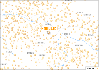 map of Hamulići