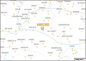 map of Hamzān