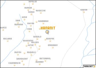 map of Hananit