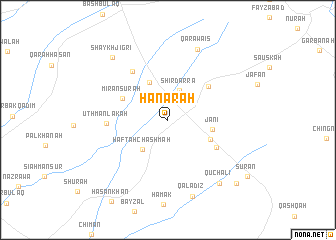map of Hanārah