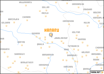 map of Hanarū