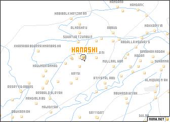 map of Ḩanashī