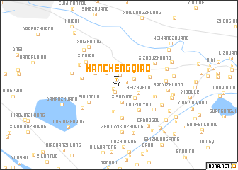 map of Hanchengqiao
