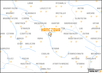 map of Hańczowa