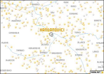 map of Handanovići