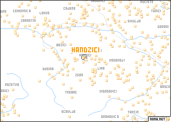 map of Handžići
