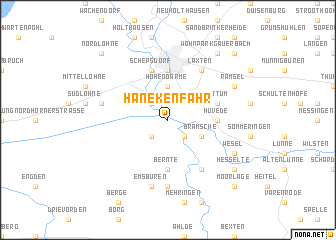 map of Hanekenfähr