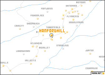 map of Hanford Hill