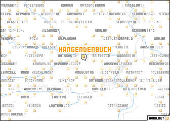 map of Hangendenbuch