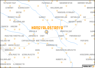 map of Hangyálostanya