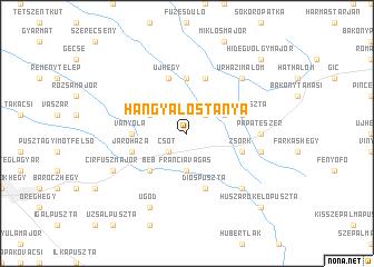 map of Hangyálostanya