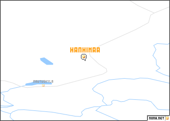 map of Hanhimaa