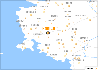 map of Hanila