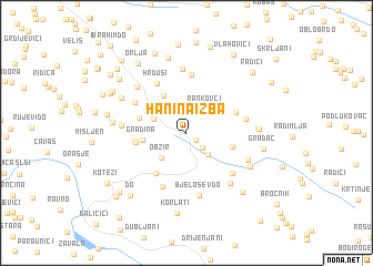 map of Hanina Izba