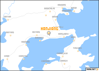 map of Hanjiang