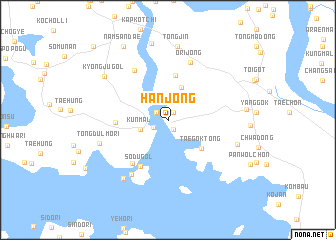 map of Hanjŏng