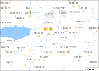 map of Hanlı