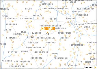 map of Ḩannūn