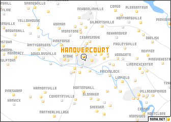 map of Hanover Court