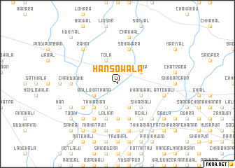 map of Hansowāla