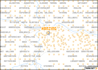 map of Hanzing