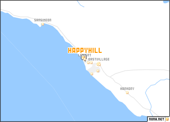 map of Happy Hill