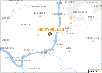 map of Happy Hollow